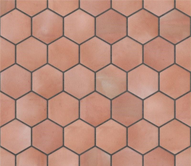 piezas a medida exagonales de barro cocido