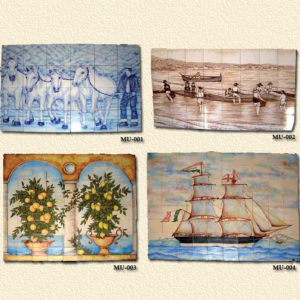 Modelo Barro Cocido Pintado Murales