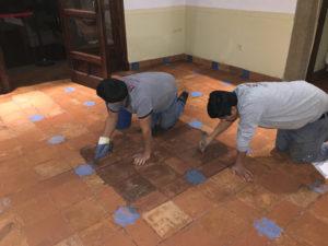 mantenimiento de suelos de barro
